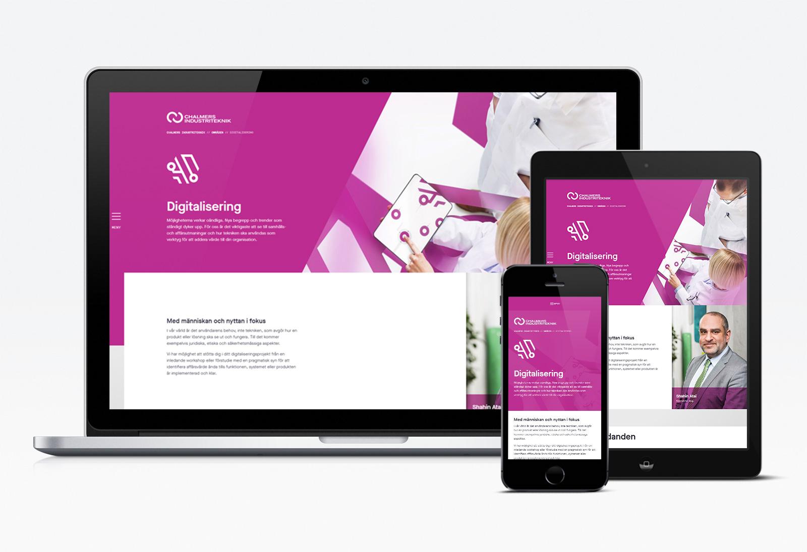 Webbvy: Digitalisering