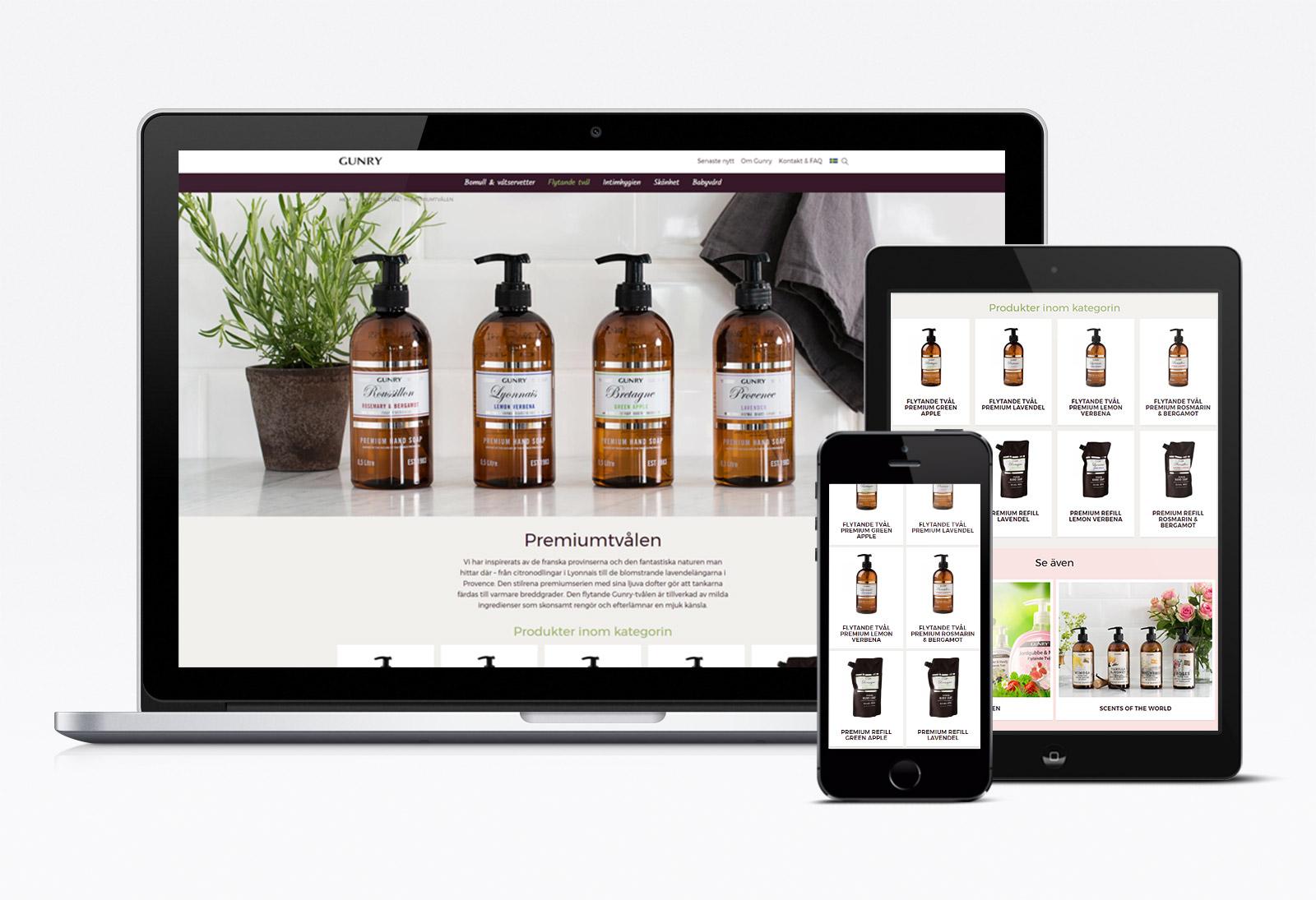 Webbvy: Produktkategori