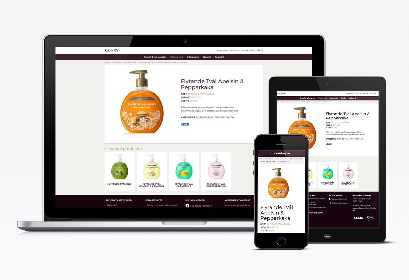 Webbvy: Produktsida